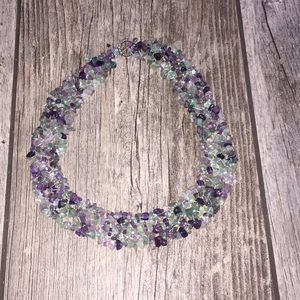 Jewelry - Aquamarine/amethyst quarts European necklace